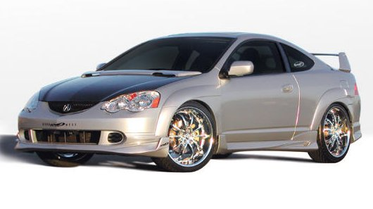 VIS Racing 7 piece Extreme Fender Flare - RSX 2002-2004