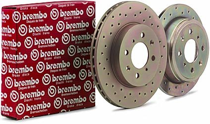 Brembo Sport Drilled FRONT Rotors Pair - RSX 02-06 Type-S
