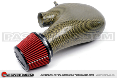 Password JDM Dry Carbon Kevlar PowerChamber Intake - 02-06 RSX