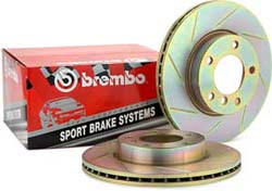 Brembo Sport Slotted REAR Rotors Pair - RSX 02-06