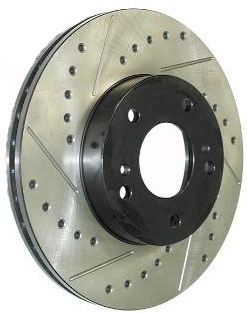 StopTech Slotted & Drilled Front Rotors Set - RSX Base 02-06