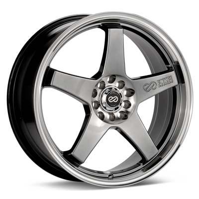 "Enkei Performance EV5 18"" Rims Hyper Black w/Machined Lip - RSX Type-s 05-06"