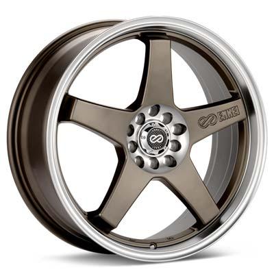 "Enkei Performance EV5 17"" Rims Bronze w/Machined Lip - RSX Type-s 02-04"