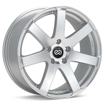 """Enkei Performance BR7 18"""" Silver Machined w/Clearcoat Rims Set of 4 - RSX 02-04"""