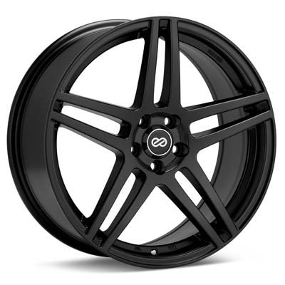 "Enkei Performance RSF5 17"" Black Painted Rims Set of 4 - RSX 02-04"