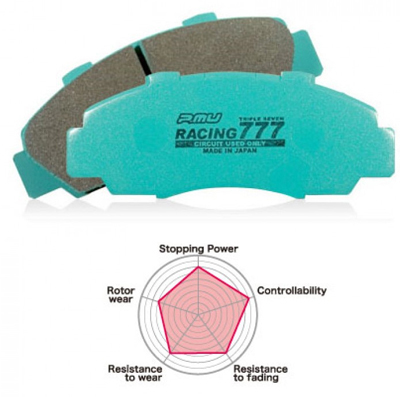 Project Mu RACING 777 Front Brake Pads - RSX Type S 02-06