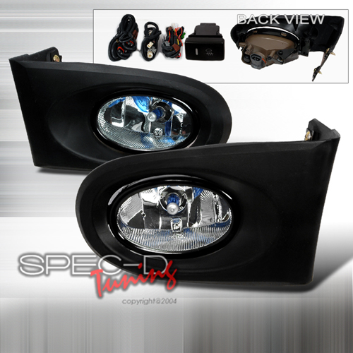 Spec-D Tuning OEM Style Fog Lights Kit Clear - RSX 02-05