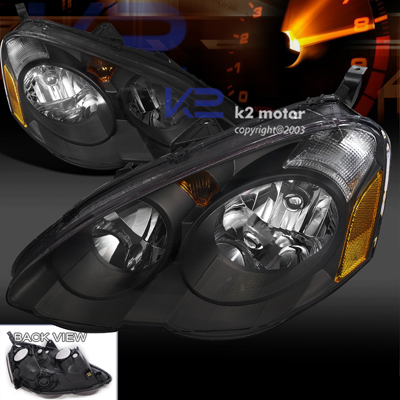 spec d tuning acura rsx headlights black rsx 02 04 rsx