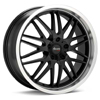 "Advanti Racing A4 Kudos 18"" Black Rims - Acura RSX 02-04"