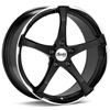 "Advanti Racing B2 Denaro 18"" Black Rims - Acura RSX 02-04"