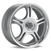 American Racing Estrella Silver Machined w/Clearcoat Rims - Acura RSX