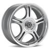American Racing Estrella Silver Machined w/Clearcoat Rims - Acura RSX
