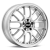 "ASA AR1 16"" Rims Set of 4 Silver w/Machined Lip"