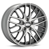 BBS CS5 Machined w/Anthracite Accent Rims Set of 4 - RSX 02-04