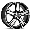 "Borbet MA 17"" Machined w/Black Accent Rims - RSX 02-04"