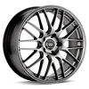 "Enkei Performance EKM3 17"" Rims Bright Silver Paint - RSX Type-s 02-04"