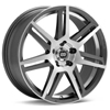 Enkei Performance Aletta Machined w/Anthracite Accent Rims - RSX 02-04