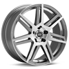 "Enkei Performance Aletta 18"" Silver Machined w/Clearcoat Rims - Acura RSX"