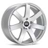 "Enkei Performance BR7 17"" Silver Machined w/Clearcoat Rims Set of 4 - RSX 02-04"