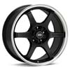 "Enkei Performance SR6 18"" Black w/Mach Lip Rims Set of 4 - RSX 02-04"