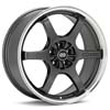 "Enkei Performance SR6 18"" Gunmetal w/Mach Lip Rims Set of 4 - RSX 02-04"