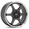 "Enkei Performance SR6 16"" Gunmetal w/Mach Lip Rims - Acura RSX"