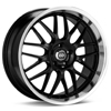 "Enkei Performance Lusso 18"" Black w/Mach Lip Rims - Acura RSX"