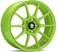 Sparco Wheels Assetto Gara Green Painted 18x8 (Set of 4)
