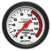 "Autometer Phantom Mechanical Nitrous Pressure gauge 2 1/16"" (52.4mm)"