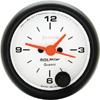 "Autometer Phantom Short Sweep Electric Clock gauge 2 1/16"" (52.4mm)"