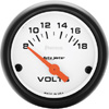 "Autometer Phantom Short Sweep Electric Voltmeter gauge 2 1/16"" (52.4mm)"