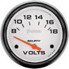 "Autometer Phantom Short Sweep Electric Voltmeter gauge 2 5/8"" (66.7mm)"