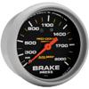 """Autometer Pro Comp Liquid Filled Mechanical Brake Pressure Gauge 2 5/8"""" (66.7mm)"""