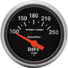 "Autometer Sport Comp Short Sweep Electric Differential Temp Gauge 2 1/16"" (52.4mm)"