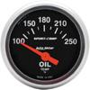 "Autometer Sport Comp Short Sweep Electric Oil Temperature Gauge 2 1/16"" (52.4mm)"