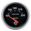 "Autometer Sport Comp Short Sweep Electric Oil Temperature Gauge 2 5/8"" (66.7mm)"