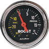 "Autometer Traditional Chrome Mechanical Boost / Vacuum gauge 2 1/16"" (52.4mm)"