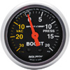 "Autometer Sport Comp Mechanical Boost / Vacuum Gauge 2 1/16"" (52.4mm)"
