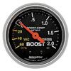 "Autometer Sport Comp Mechanical Boost / Vacuum Gauge 2 1/16"" (52.4mm)"