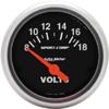 "Autometer Sport Comp Short Sweep Electric Voltmeter Gauge 2 1/16"" (52.4mm)"