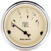 "Autometer Antique Beige Short Sweep Electric Fuel Level Gauges 2 1/16"" (52.4mm)"