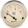 "Autometer Antique Beige Short Sweep Electric Fuel Level Gauges 2 1/16"" (52.4mm)"