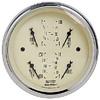 "Autometer Antique Beige Short Sweep Electric Quad Gauge Gauges 3 3/8"" (85.7mm)"