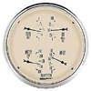 "Autometer Antique Beige Short Sweep Electric Quad Gauge Gauges 5"" (127mm)"