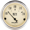 "Autometer Antique Beige Short Sweep Electric Water Temperature Gauges 2 1/16"" (52.4mm)"