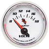 "Autometer C2 Short Sweep Electric Voltmeter gauge 2 1/16"" (52.4mm)"