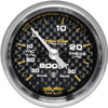 Autometer Carbon Fiber Full Sweep Electric Boost / Vacuum gauge 2 1/16