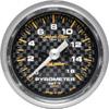 "Autometer Carbon Fiber Full Sweep Electric Pyrometer gauge 2 1/16"" (52.4mm)"
