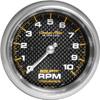 "Autometer Carbon Fiber In-Dash Tachs & Speedos Tachometer gauge 3 3/8"" (85.7mm)"