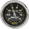 "Autometer Carbon Fiber Mechanical Boost / Vacuum gauge 2 1/16"" (52.4mm)"